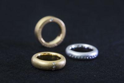 Brillant Ringe in Gelb- und Weißgold